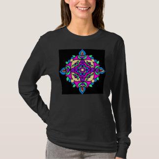 Ladies Longsleeved T-shirt with Rangoli Pattern
