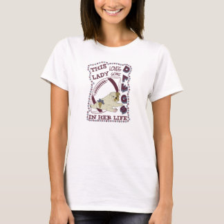 Ladies Love Dawgs w/Blue Lettering T-Shirt