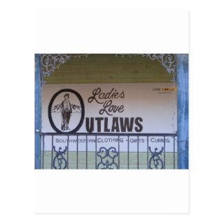Ladies Love outlaws Postcard