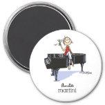 Ladies Martini Music Fridge Magnets