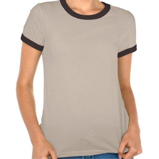 Ladies Melange Ringer T-shirt - Tan/Brown
