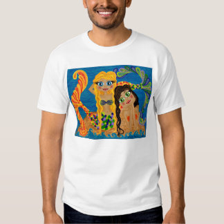 Ladies Mermaid Design T-Shirt