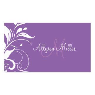 Ladies Monogram Business Business Card