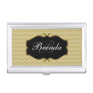 Ladies Monogram Initial With Classy Emblem Case For Business Cards