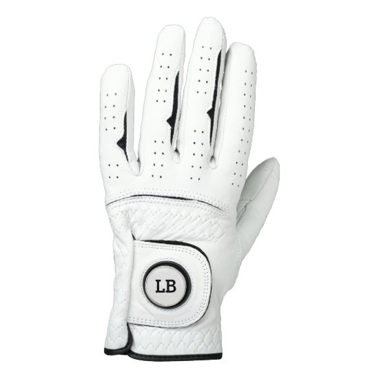 Ladies Monogram Leather Golf Glove