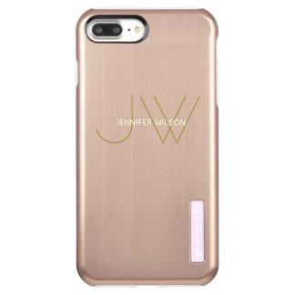 Ladies Monogram Modern Minimalist Luxury Rose Gold Incipio DualPro Shine iPhone 8 Plus/7 Plus Case