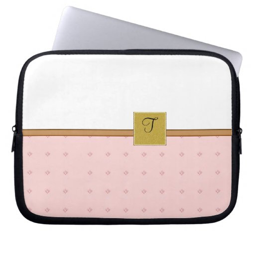Ladies Monogrammed laptop electronics bag template Computer Sleeve