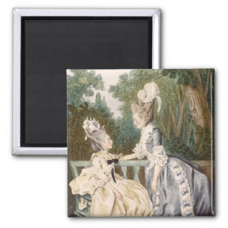 Ladies' Morning Dress, 1771 (colour engraving) 2 Inch Square Magnet