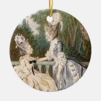 Ladies' Morning Dress, 1771 (colour engraving) Ceramic Ornament