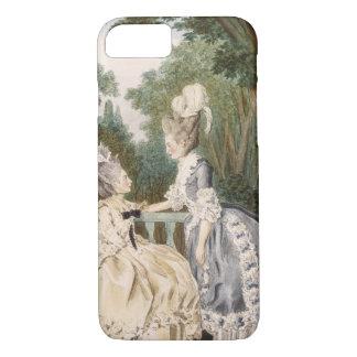 Ladies' Morning Dress, 1771 (colour engraving) iPhone 8/7 Case