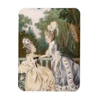 Ladies' Morning Dress, 1771 (colour engraving) Rectangular Photo Magnet