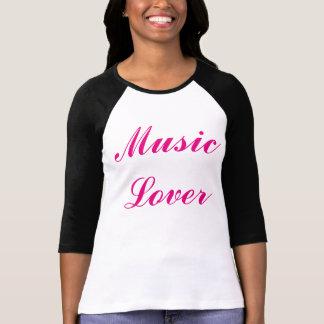 """Ladies """"Music Lover"""" 3/4 Sleeve PandA Tee"""