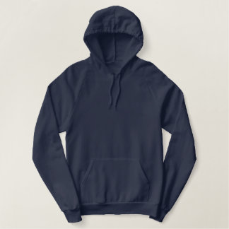 Ladies Navy Blue Fleece Pullover Hoodie