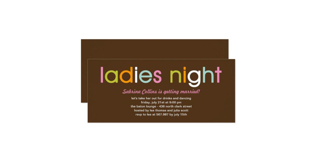 ladies night invitations - photo #7
