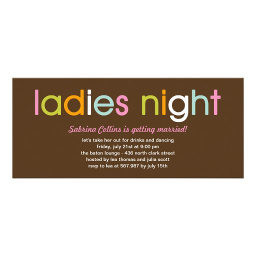Ladies Night Bachelorette Party Invitation