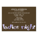 Ladies Night Bachelorette Party Invitations