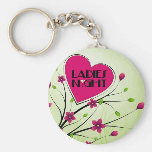 Ladies Night Basic Round Button Keychain
