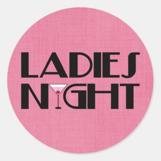 Ladies Night Classic Round Sticker