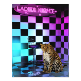Ladies Night Club Leopard Event Party Card
