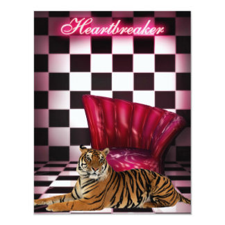 Ladies Night Club Tiger Event Party Card