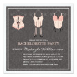 "LADIES NIGHT LINGERIE | BACHELORETTE PARTY INVITE 5.25"" SQUARE INVITATION CARD"