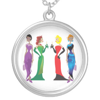 Ladies' Night Necklace Round Pendant Necklace