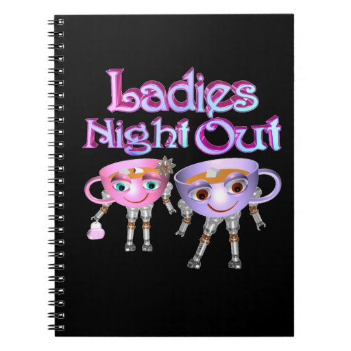Ladies Night Out by Valxart.com Spiral Note Books
