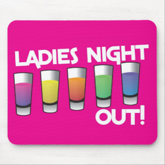 LADIES night out cards Mouse Pad