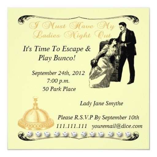 ladies night invitations - photo #27