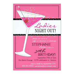 60 Off Pink Martinis 5x7 Birthday Invitations Shop Now To Save