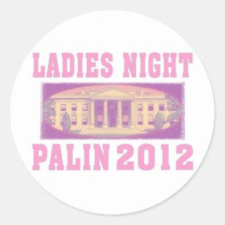 Ladies Night Palin 2012 Classic Round Sticker