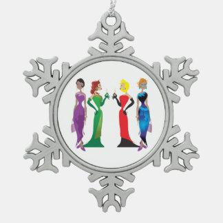 Ladies' Night Pewter Ornament
