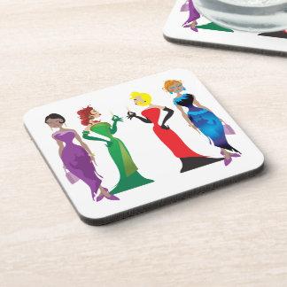 Ladies' Night Plastic Coasters