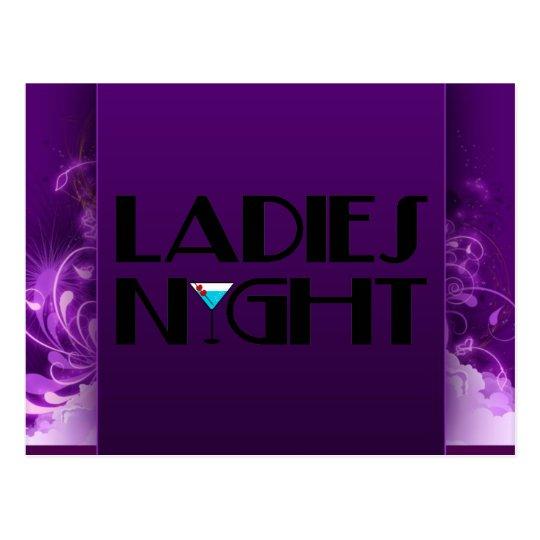 Ladies Night Postcard
