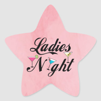 Ladies Night Star Sticker