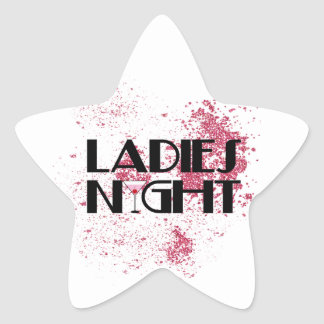 Ladies Night Star Sticker