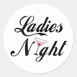 Ladies Night Round Sticker