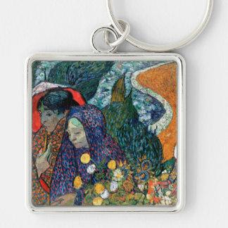Ladies of Arles, Garden at Etten, Vincent Van Gogh Key Chain