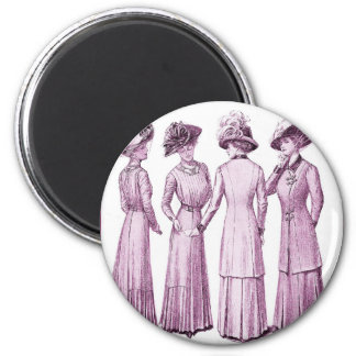 Ladies of the belle epoche. 2 inch round magnet