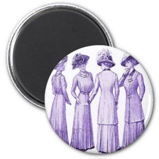 Ladies of the belle epoche 2 inch round magnet