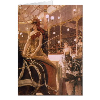 Ladies of the Cars (Circus) by Tissot, Vintage Art Card
