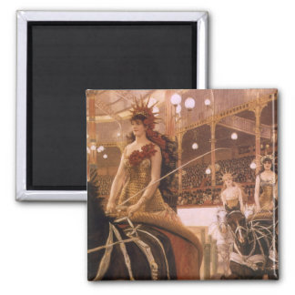 Ladies of the Cars (Circus) by Tissot, Vintage Art Magnet