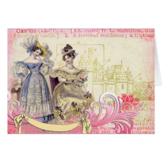 Ladies of the Castle Collage Art Card