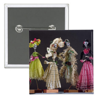 Ladies of the Day of the Dead, from Oaxaca 2 Inch Square Button