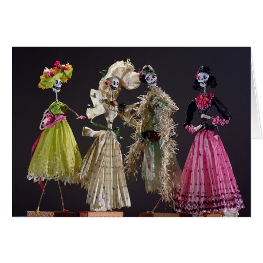Ladies of the Day of the Dead, from Oaxaca Card