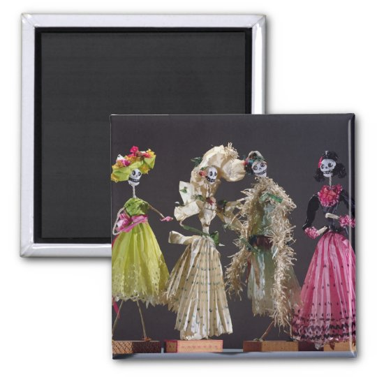 Ladies of the Day of the Dead, from Oaxaca Magnet