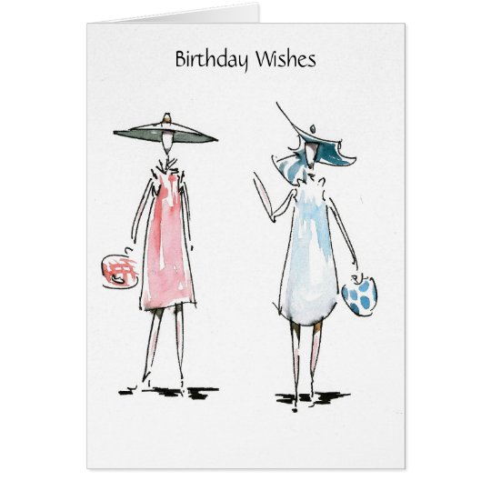 Ladies off to Lunch Birthday Wishes Card