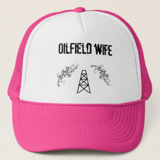 ladies oilfield wife pink hat