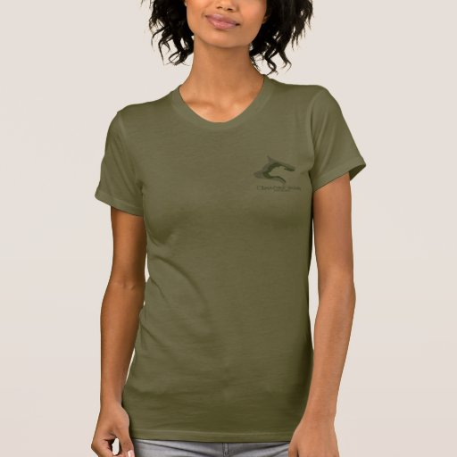 Ladies olive green T Tee Shirt