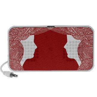 Ladies on Red iPhone Speakers